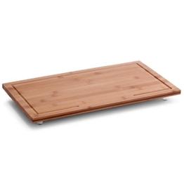 Herdabdeck- & Schneideplatte Bamboo- Kochfeldabdeckung – Servierplatte aus hochwertigem Bambus – 50 x 28 x 4 cm - 1