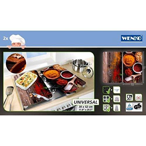 Wenko Herdabdeckplatten 2er-Set Universal Gewürze 2521467100