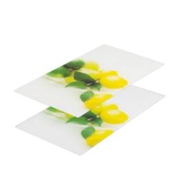 """Zeller 26271 Glasschneideplatten """"Zitrone"""", 2-er Set für Glaskeramikkochfeld 52 x 30 cm - 1"""