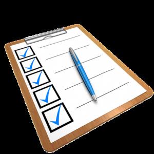 Checkliste als Clipart