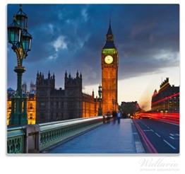 Herdabdeckplatte / Spitzschutz aus Glas, 1-teilig, 60x52cm, für Ceran- und Induktionsherde, London- Big Ben bei Nacht -