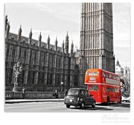 Herdabdeckplatte / Spitzschutz aus Glas, 1-teilig, 60x52cm, für Ceran- und Induktionsherde, London Red Bus -