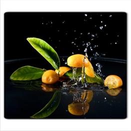 Orange 1 Glas Abdeckplatte 60x52 Schneidebrett Herdabdeckplatte -