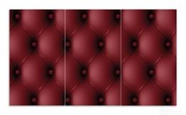 Bild von einer Herdabdeckplatte aus Glas in Lederoptik in rot